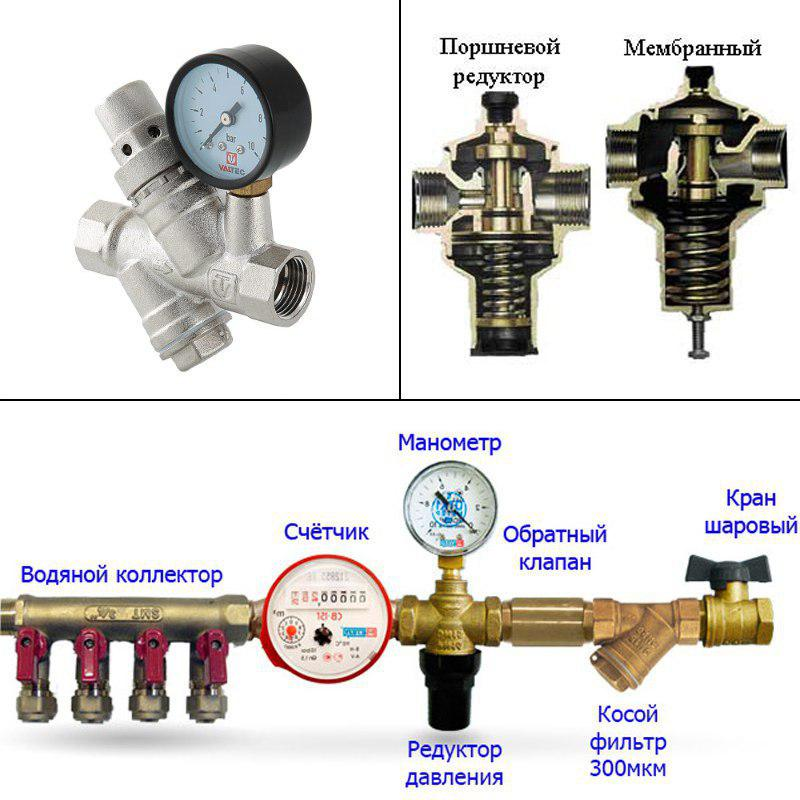 редуктор давления воды в квартире