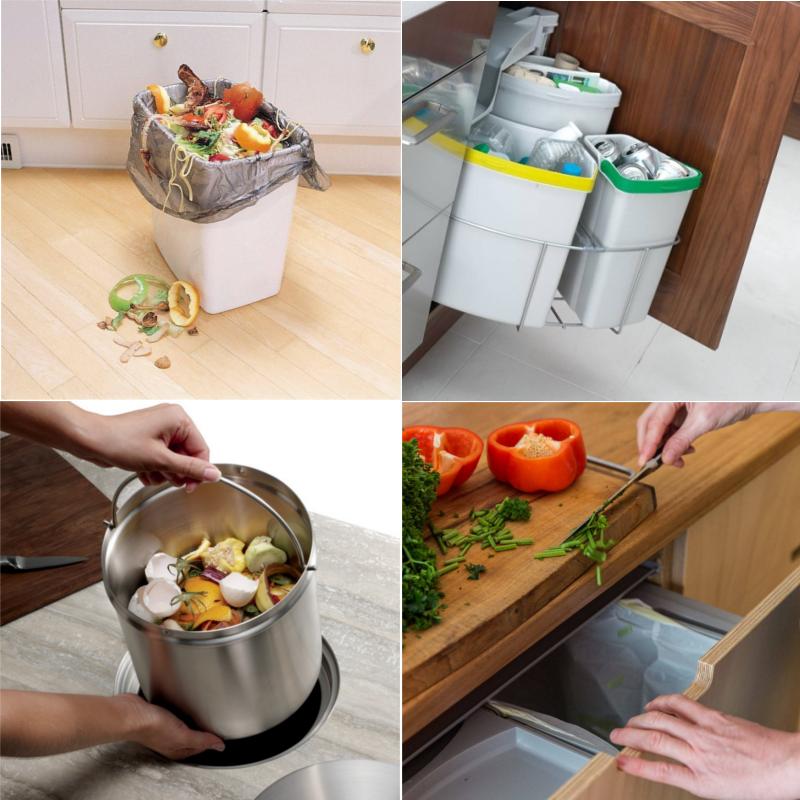 Удобное мусорное ведро на кухню