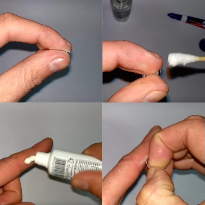 Как очистить супер-клей с кожи