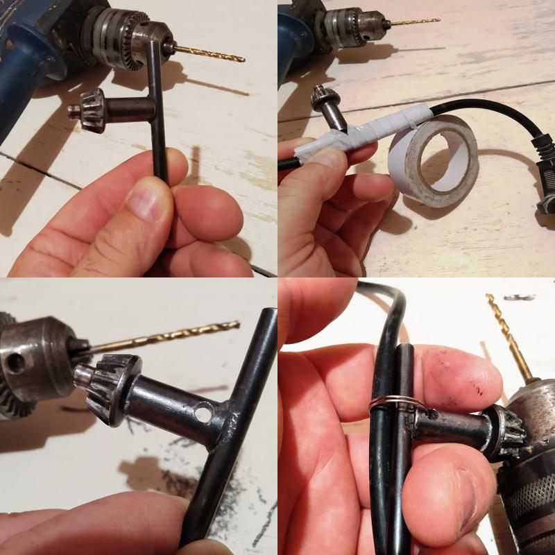 Как не потерять ключ от дрели