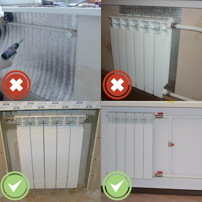 Стоит ли утеплять стену за радиатором
