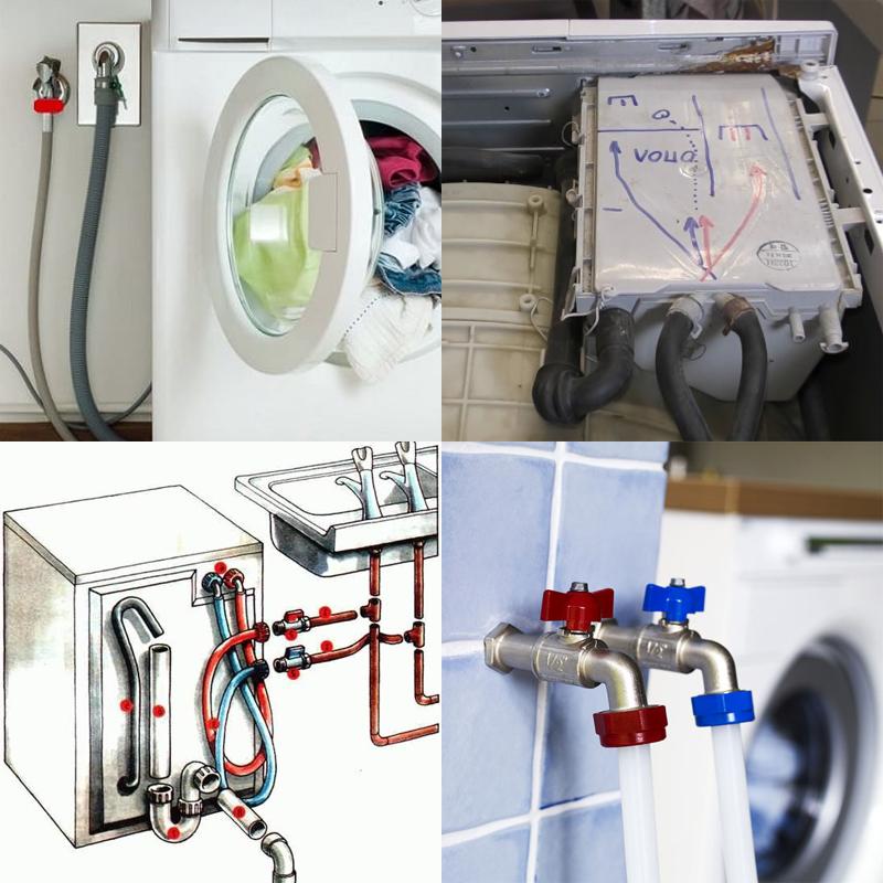 подключить стиральную машину к горячей воде
