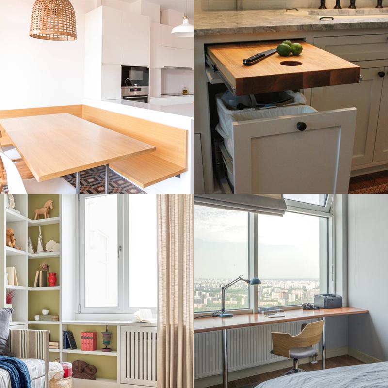 Идеи для экономии места в маленькой квартире