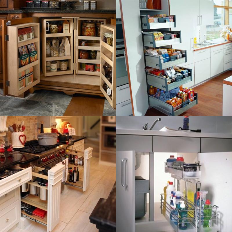 кассетная система хранения на кухне
