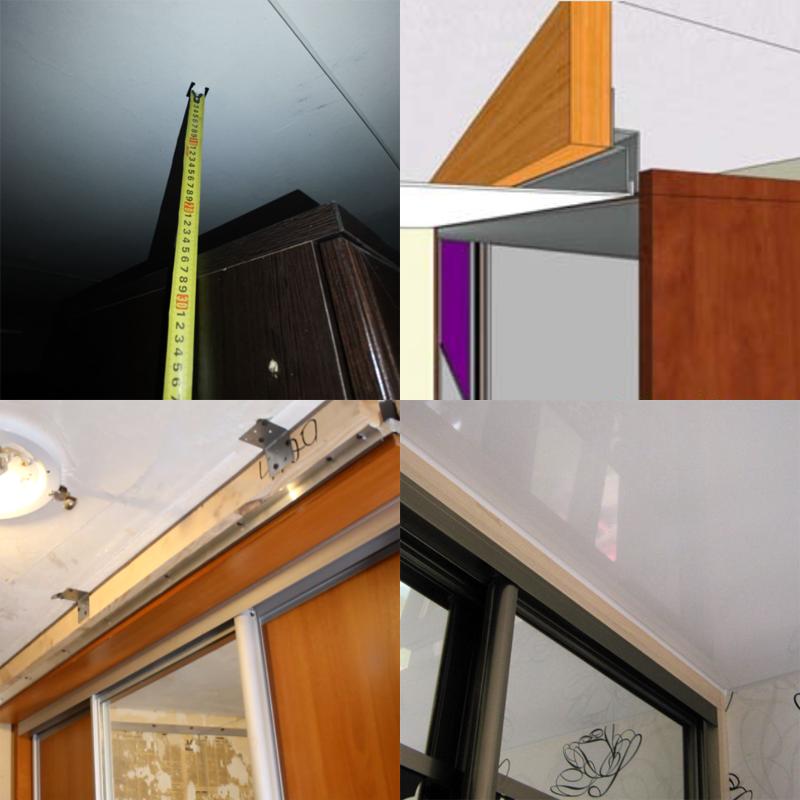 натяжной потолок если мешается шкаф