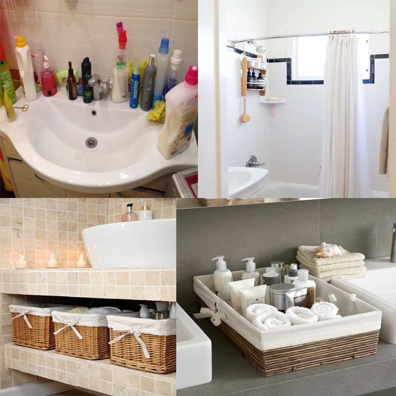 организовать хранение в ванной