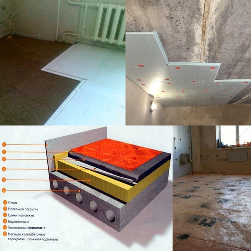 утеплить пол первого этажа в панельных домах