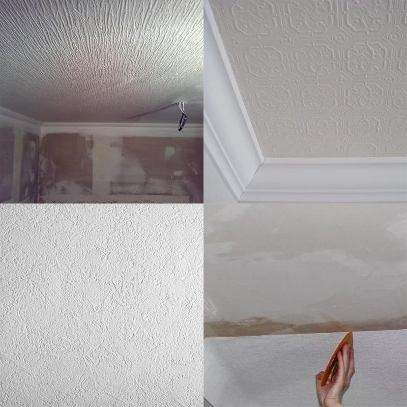 Бюджетный способ отделки потолка